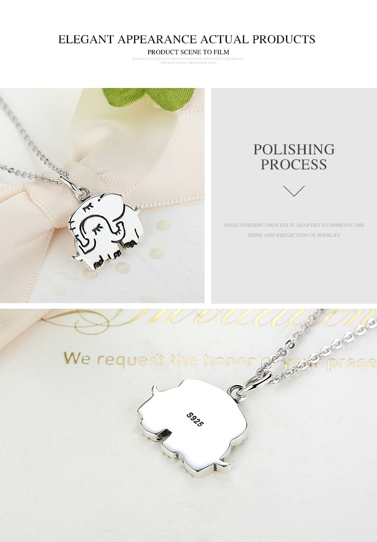 Elephant Mom Sterling Silver Necklace