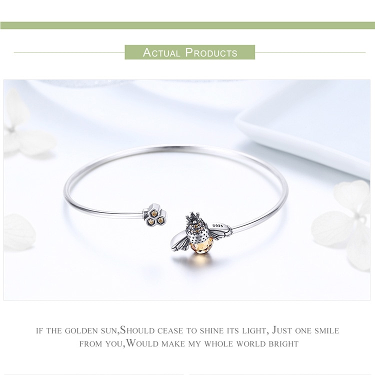 Story of The Bee Sterling Silver Bracelet