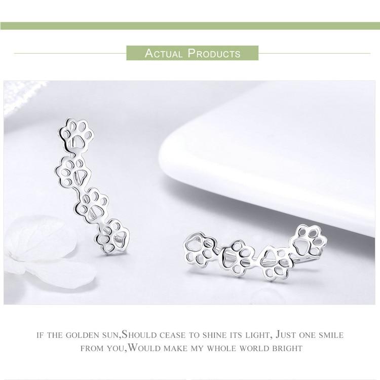Animal Footprints Sterling Silver Earrings